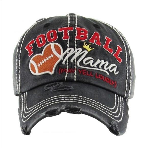 Black Vintage Style Football Mama Baseball Cap 🧢 38fd2a4e39b4